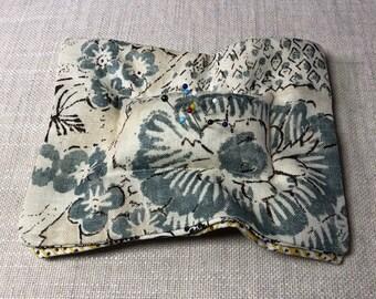 Unique Designer Fabrics pin cushion