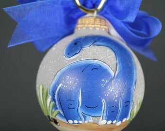 Handpainted Dinosaur Ornament - Personalized FREE