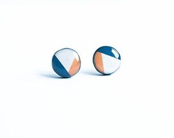 Geometric stud earrings, everyday wear jewelry, hypoallergenic earrings studs