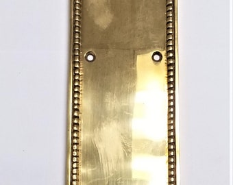 Large Decorative Push Plate For Door, Solid Brass
