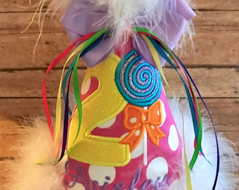 Candy Land Birthday Hat,  Lollipop Birthday Hat, Candyland BirthdayYou Choose Colors,