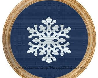 Cross Stitch Pattern PDF Snowflake DD0138