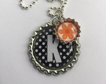 Personalized Alphabet/Letter Bottle Cap Necklace or Keychain - Birthday Gift, Teacher Gift, Babysitter Gift
