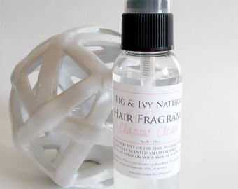 Classic Clean Hair Perfume - Hair Fragrance - Hair Spray Mist  - Natural Hair