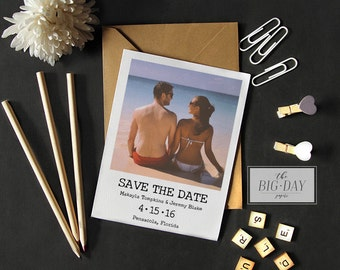 Customized Printable Save the Date | Vintage Photo Wedding Save The Date