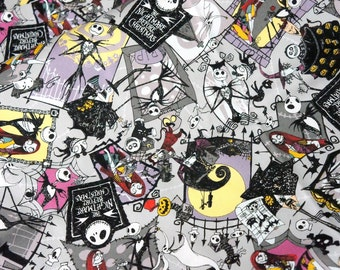 Disney Licensed fabric Nightmare before christmas fabric  50  cm by 106 cm or  19/6 by 42 inches  Half meter