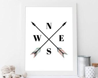 arrow wall decor, arrow decor, arrow wall art, arrow art, arrow wall hanging, arrow print, arrow sign, arrow art print, arrow room decor