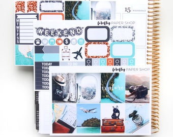 Explore MINI Weekly Kit (stickers for Erin Condren Life Planner - Vertical)