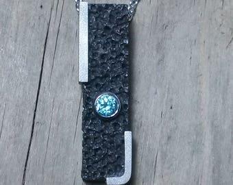 Vulcano black 925 Sterling Silver Pendant