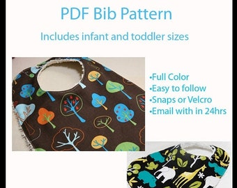 Spring Sale PATTERN - Boutique Bib pattern - Infant and Toddler sizes - Generous sizes - PDF -