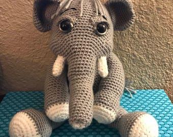 Elephant Crochet Plushie Stuffed Animal Nursery