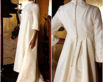 Vintage Wedding Gown Bianchi Empire Beaded