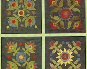 Penny Garden II Folk Art Penny Rugs by All Through the Night - Patterns