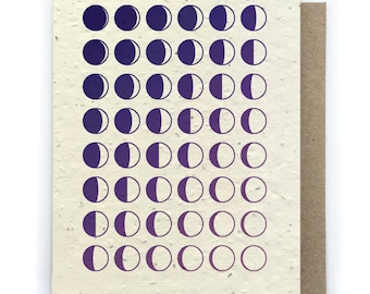 Wishing You Many More Moons Birthday Card - Plantable Seed Paper