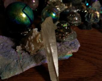 Lemurian seed quartz phantom rainbow