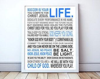 Christian Athlete - Custom Manifesto Poster Print