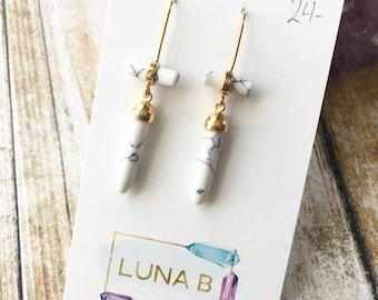 Marbled White Columns Earrings