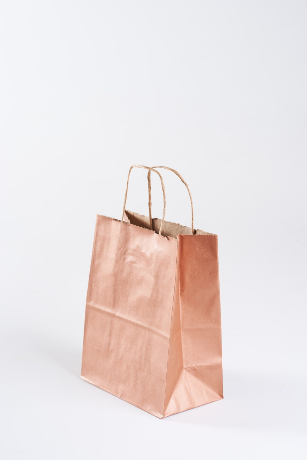 75 Rose Gold Gift Bags with Handles for Wedding Guests, Welcome Bag ...