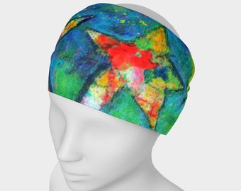 Shining Stars Unisex HeadWrap Rainbow Art Yoga Headband Fitness Bandana Dance Hair Accessories Chemo Wrap Women Men Boho Clothes Art Scarf
