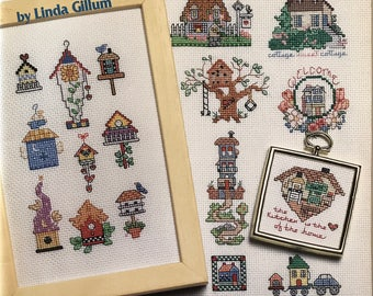 Cross Stitch Pattern tiny houses/counted Cross Stitch houses/Tiny Houses book/Tudor/log cabin/teepee/igloo/Adobe/cute house patterns/