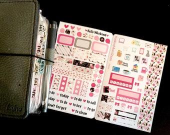Black Rose Pocket Travelers Notebook Sticker Insert - TN009