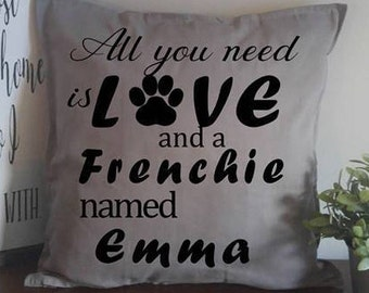 20x20 All you need is love and a Dog named pillow cover/Dog lover pillow cover/Custom Dog Pillow Cover