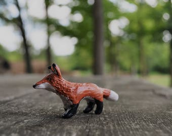 Red Fox clay figurine