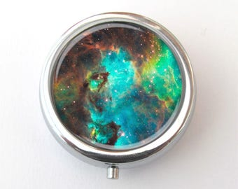 Pill Case, Nebula Trinket Box, Pill Box, Gift For Her