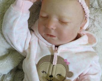 "Reborn Baby, ""Selina"", Reborn Baby Girl, Brittany Asleep Kit, Reborn Doll, Ready to Ship"