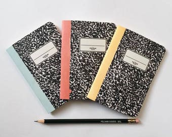 Noise Pocket Notebooks - 3 Pocket Notebooks Pack - Journal - Sketchbook - Blank pages - Lined pages - Dotted pages