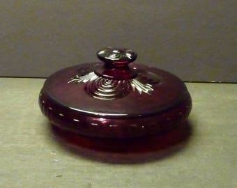 Deep Ruby Red Covered Candy - Elegant and Rich