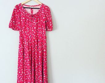 Vintage Red Summer Dress