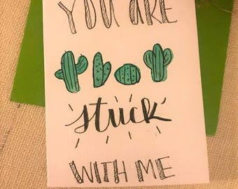 You are 'stuck' with me Valentine's Day Card