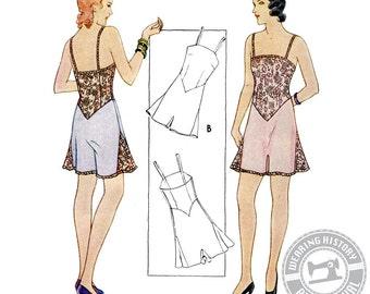 E-Pattern-Gigi- Early 1930s Combination Underwear Pattern- Wearing History PDF