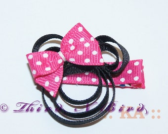 Minnie Mouse Style Bow Hair Clip Ribbon Sculpture Instruction Set