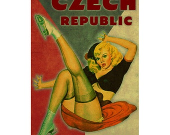 CZECH REPUBLIC 1PS- Handmade Leather Journal / Sketchbook - Travel Art