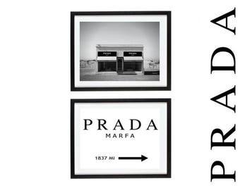 Prada Marfa fashion Print,Black and White print, Prada Print,  Fashion Photography, wall art, Prada Wall Art, Home Decor, Fashion Poster