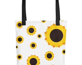 Beautiful Day Tote Bag (Sunflower Print)