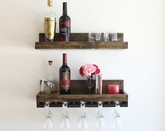 "24"" Rustic Wood Wine Rack 