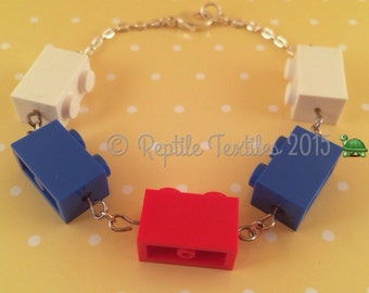 LEGO bracelet with silver findings