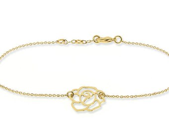 Bracelet chain very fine rose