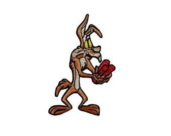 Wile E. Coyote and the Road Runner Looney Tunes Cartoon Iron On Patch Embroidered Applique Patches For Jackets
