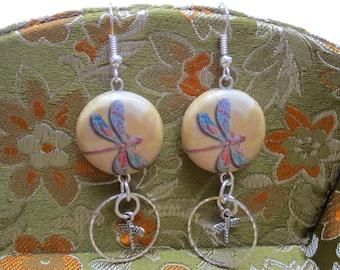 Double Dragonfly Earrings