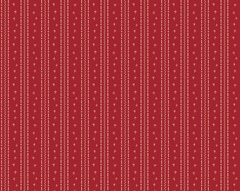 Penny Rose Fabric by the Yard, Calico Crow Tracks, by Lauren Nash for Riley Blake Designs, C7305-RED