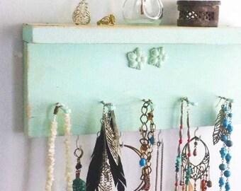 Beunruhigt Schmuck Regal schäbig Halskette Veranstalter mit floralen Verzierungen... Wählen Sie Ihre Farbe Bad & Schönheit. Süße Baby oder -Dusche-Geschenk