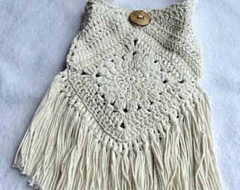 Boho Purse/Boho Bag/Gypsy Purse/Gypsy Bag/Crochet Fringe Bag/Crochet Fringe Purse/Boho Crossbody Bag/Boho Cross Body Purse