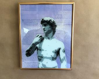 Statue of David Framed 8x10