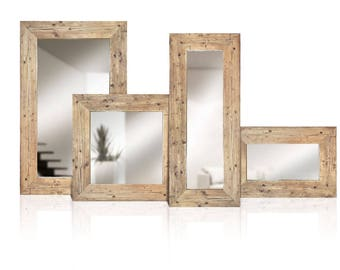 Reclaimed wood mirrors | Solid wood | Old wood framed mirror