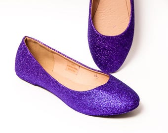 Glitter - Passion Purple Ballet Flat Slipper Shoes