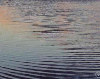 Abstract Water Photography, Autumn Abstract, Dark Purple Water Photo, Fine Art Photography, Lagoon Water Print, Abstract Water Ripple Print